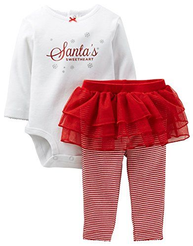 Carters Christmas 2 Piece Tutu Set Baby Red12 Months >>> See this great  product. - Carters Christmas 2 Piece Tutu Set Baby Red12 Months >>> See This