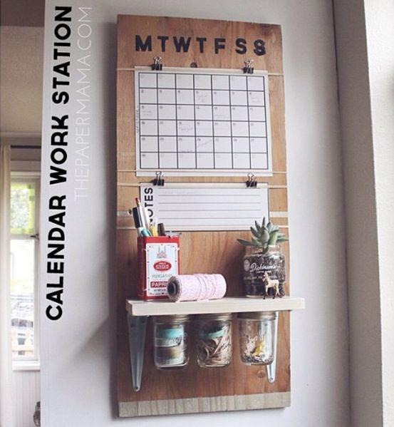 Calendar workstation via papermama blog
