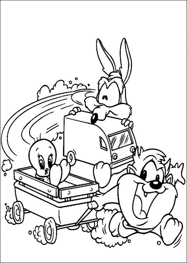 Free Printable Looney Tunes Coloring Pages For Kids | school stuff ...