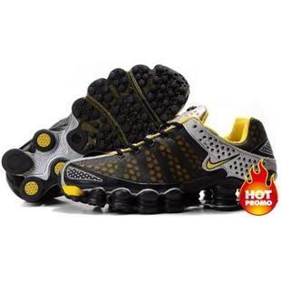 www.asneakers4u.com Mens Nike Shox TL3 Black Silver Yellow
