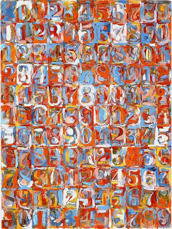 Jasper Johns Numbers In Colour 1959 Semiotics The Study Of