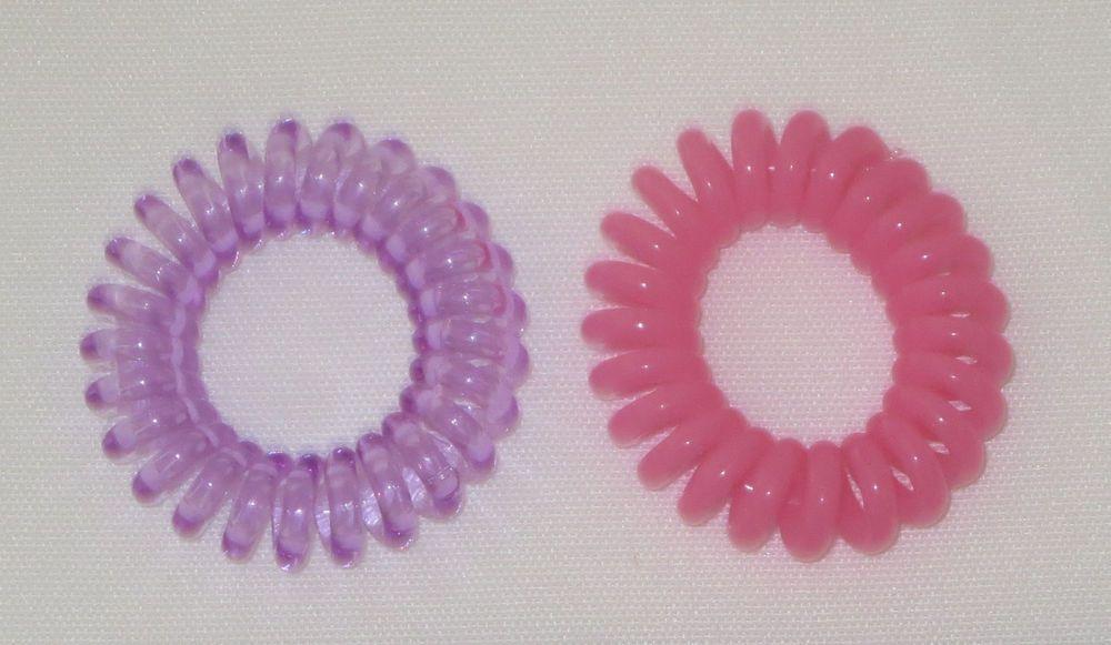 Swirly Do Hair Ties Purple Pink Tangle Free Ponytail New Swirlydo Lindo Small