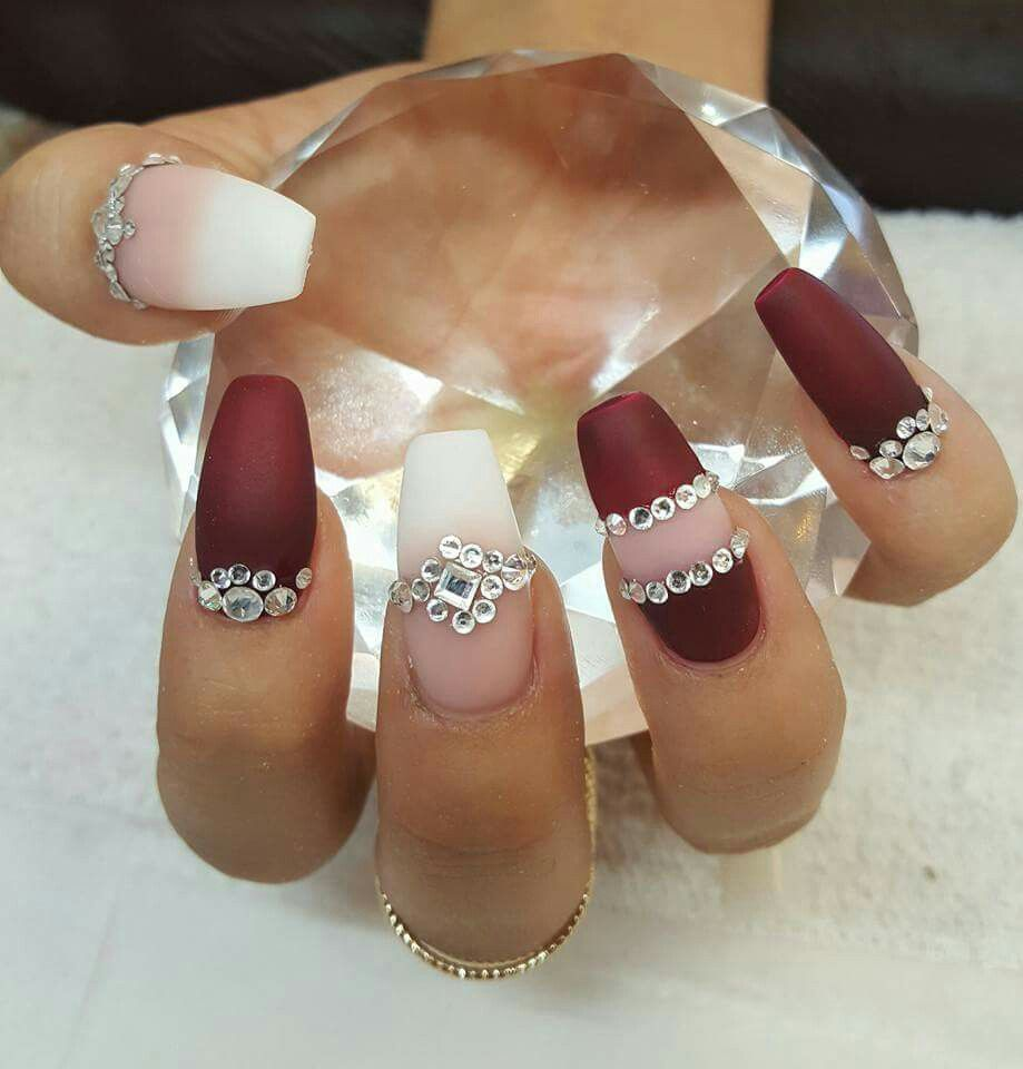 Fine Burgundy Nails Designs Model - Nail Art Ideas - morihati.com