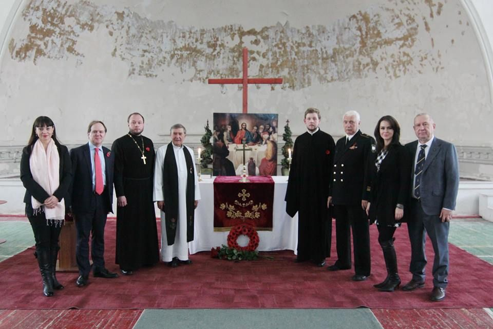 Remembrance Sunday service 2016 with guests from the Russian Orthodox Church/Military Chaplaincy & Russian Naval Christian Fellowship Group. The service was led by Rev John Summers RN retd
