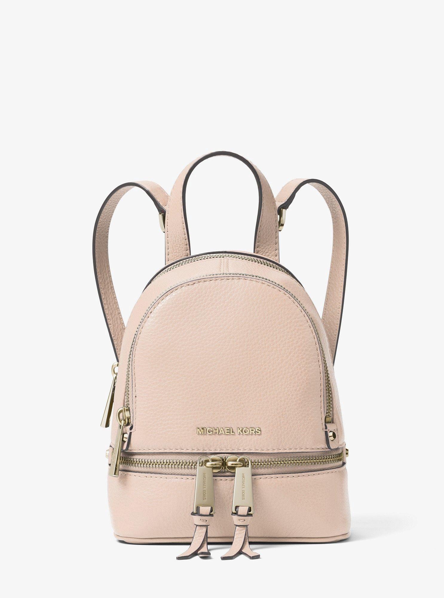 3f0bfc16f Michael Kors Rhea Mini Leather Backpack - Oxblood in 2019 | Products ...