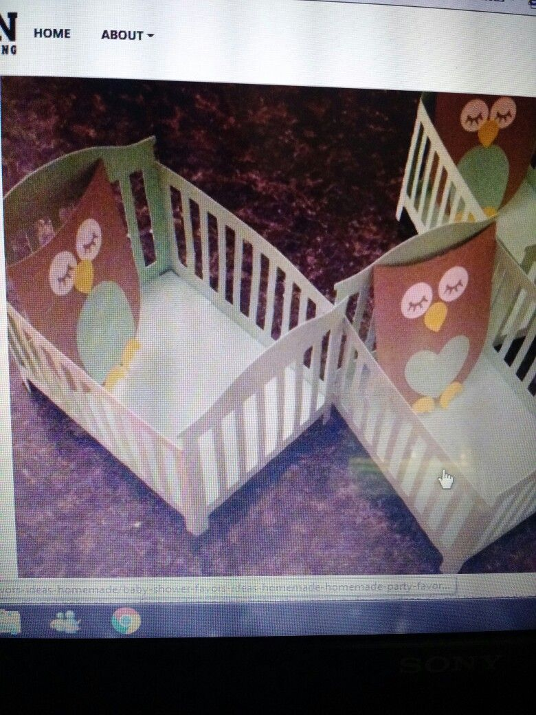 Owls sleeping for a baby shower. Crafts, Owl crafts, Owl