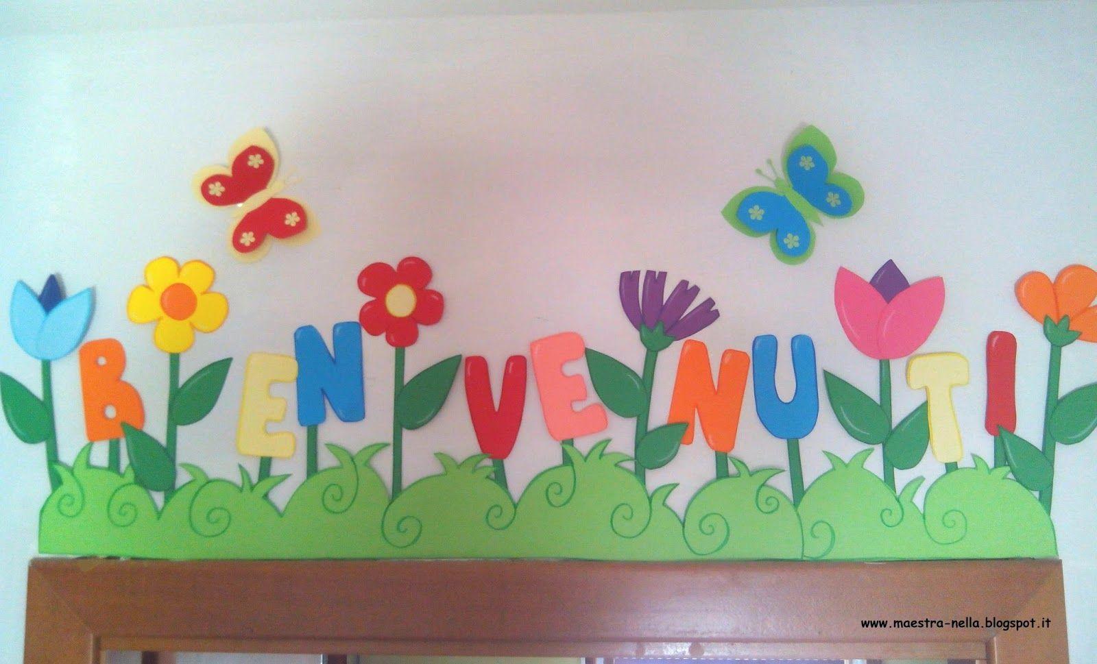 Maestra nella scitta 39 benvenuti 39 accoglienza for Maestra infanzia