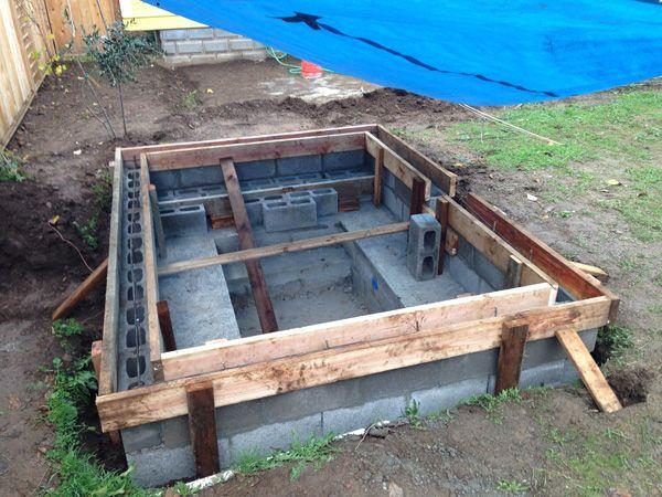 Diy Concrete Block Soaking Pool