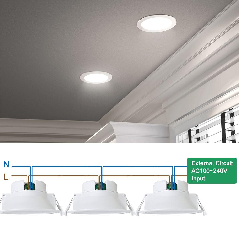 Kitchen Bathroom Led Recessed Ceiling Light Enuotek Installing Recessed Lighting Led Recessed Ceiling Lights Led Recessed Lighting
