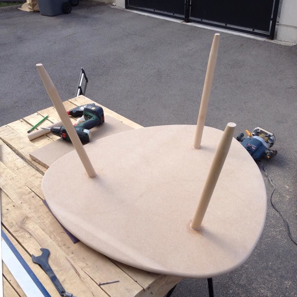 Diy Table Basse Tripode Gigogne Table En Bois Diy Table Basse Bricolage Table Basse