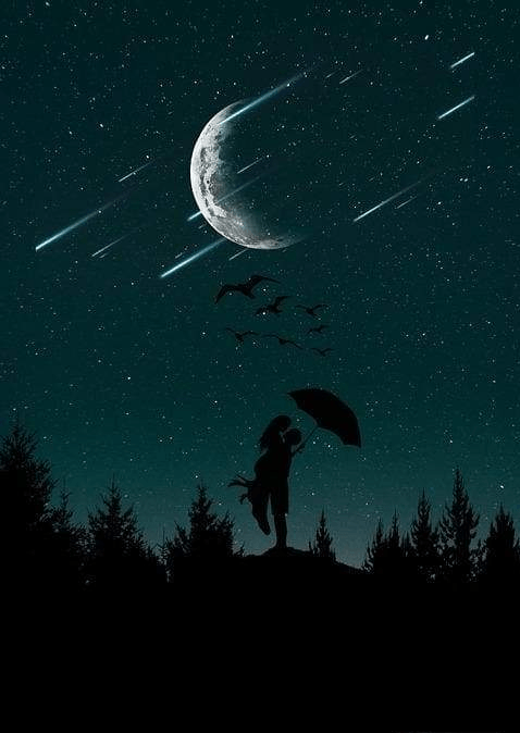 Meteor Shower In 2019 Love Wallpaper Moon Painting