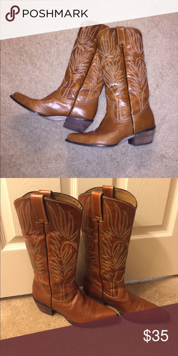 15cabbe0c0a Steve Madden Camel Lonestar Boot Camel leather cowgirl boots by ...