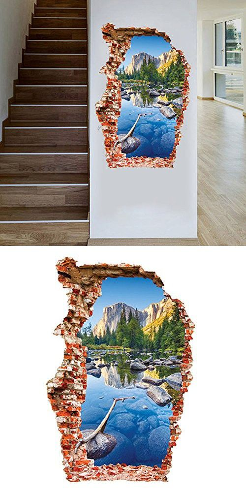 Kaimao Wall Decal 3d Mural a Corner of Colored Pool Landscape Removable Wall Stickers for Wall and Ceiling Home Decor