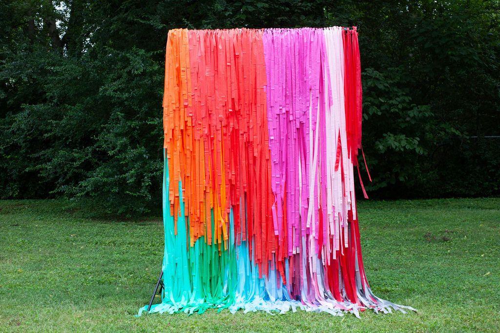 Streamer Wall, Streamer Backdrop, Fringe Backdrop, Wedding Backdrop, Rainbow Backdrop, Photo Booth