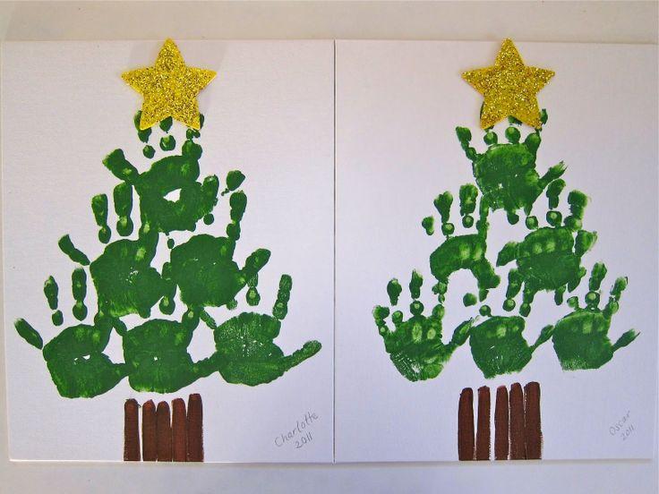 Pin By Beth Whitener On Brooklyne Pinterest Christmas Tree Canvas Holiday Crafts Christmas Handprint Christmas Tree