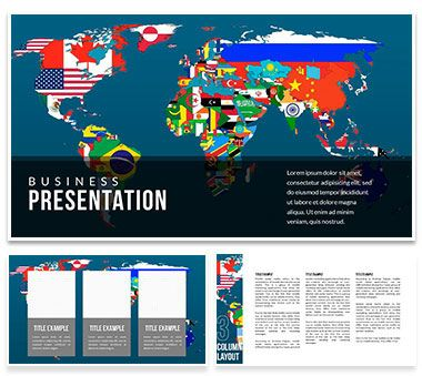 Flags of countries on the world map keynote template presentation flags of countries on the world map keynote template presentation gumiabroncs Image collections