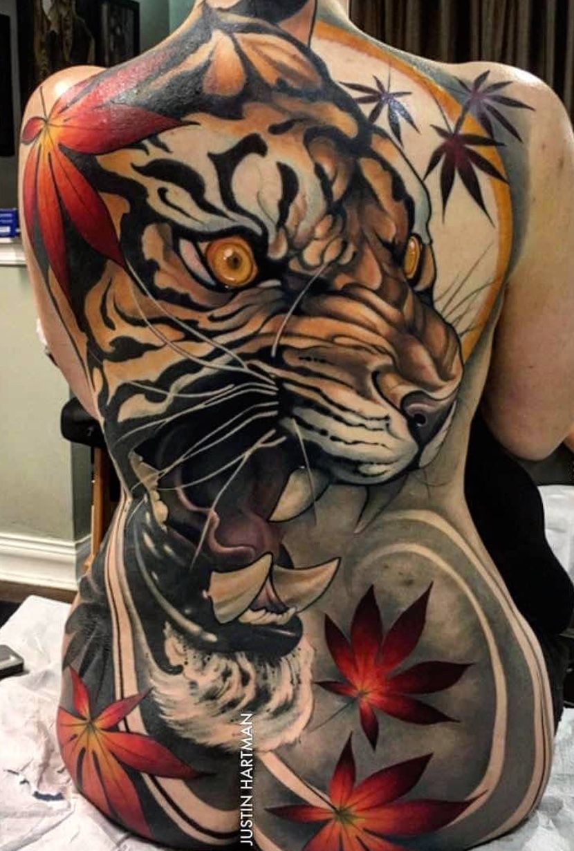 Tiger back piece tattoo design | Asian Themed Art XII ...