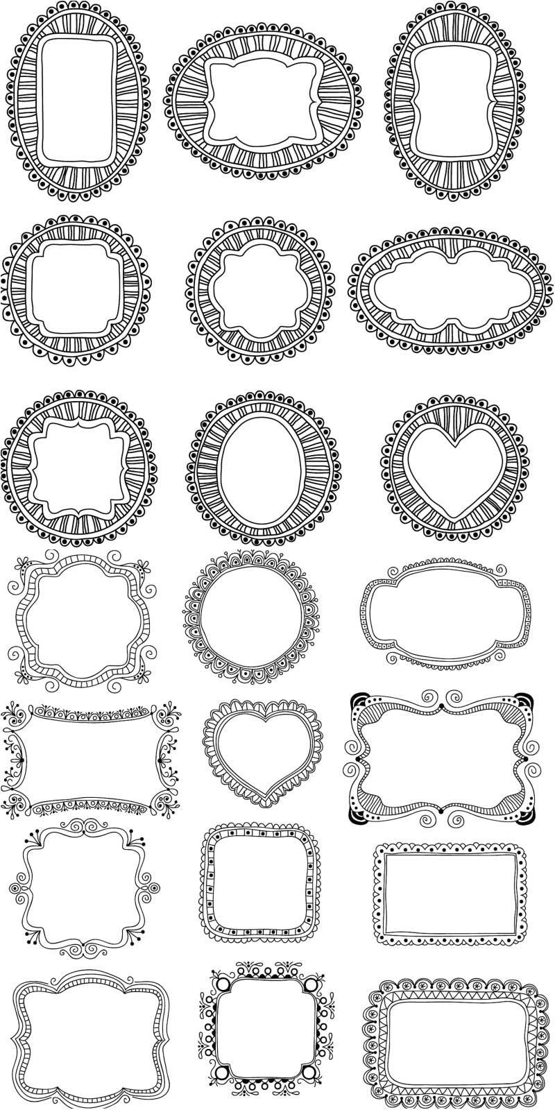 Free Vintage ornate frames vector | Brocade, Flourish, Scrolling ...