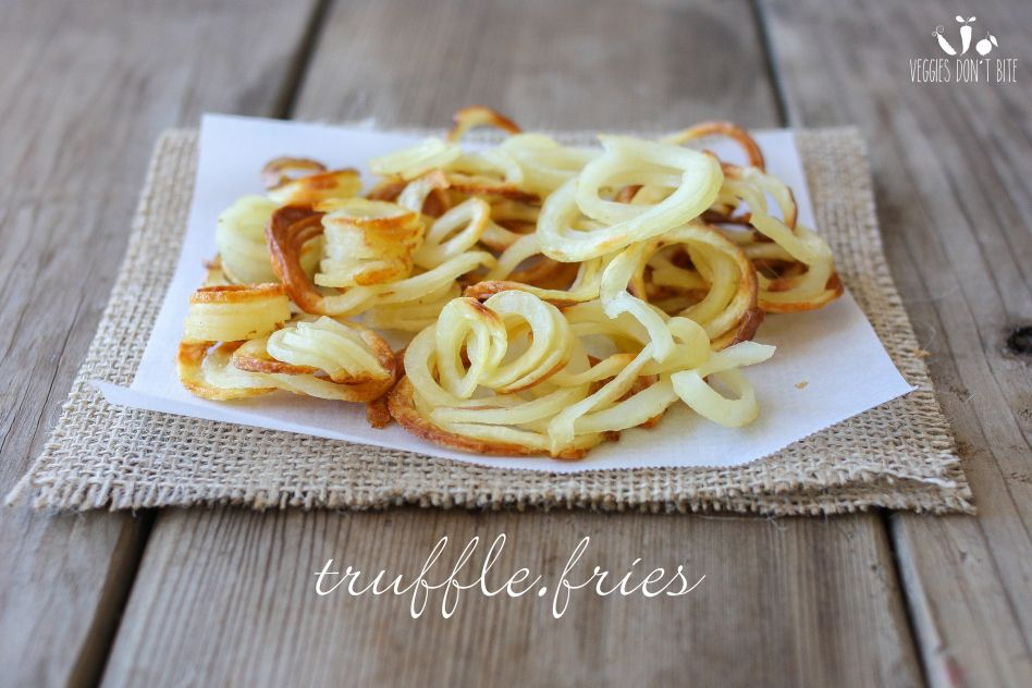 Need a new way to present french fries? These spiraled potatoes will do the trick, add some truffle salt and bake to perfection. The perfect curly fry that goes great with any meal.