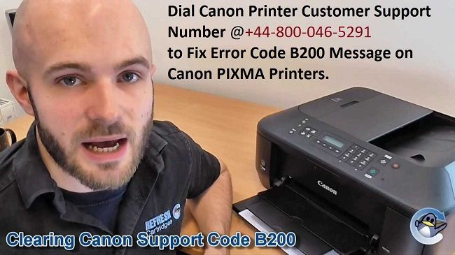 How To Reset Error Code B200 Message On Canon Pixma Printer