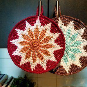 How to crochet potholder #crochetpotholderpatterns