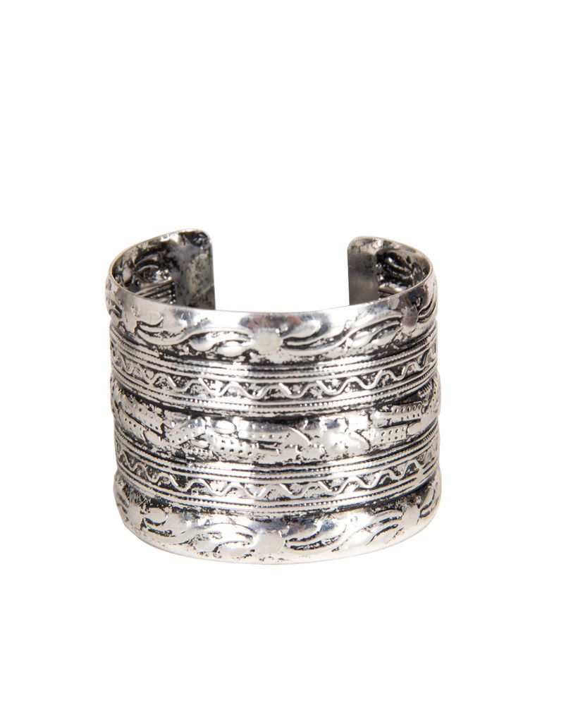 Textured Antique Cuff Bracelet - Silver – 2020AVE
