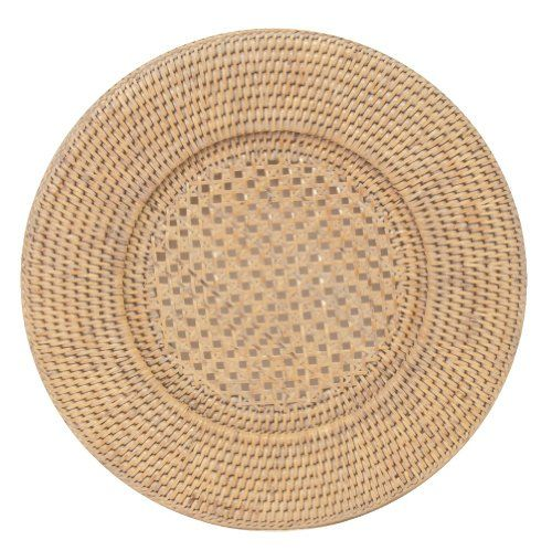 Entertaining with Caspari Rattan Dinner Plate Charger Round Natural White 1-Count  sc 1 st  Pinterest & Entertaining with Caspari Rattan Dinner Plate Charger Round ...