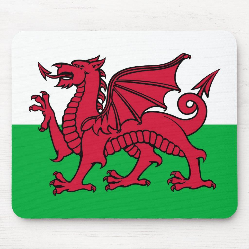 Red Welsh Dragon Mouse Pad Zazzle Com Welsh Flag Welsh Dragon Stone Coasters [ 1024 x 1024 Pixel ]