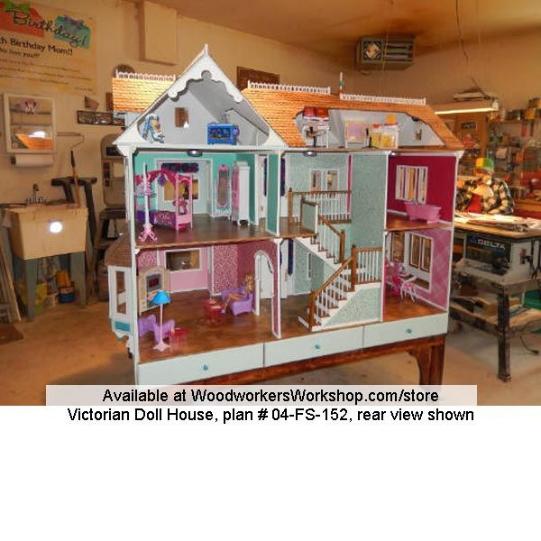 Barbie houses are not very common to begin with a for Victorian furniture plans