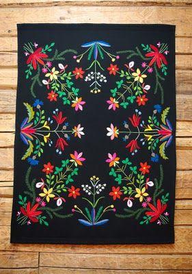 Muhu Island Traditional Craft Embroidered Blanket