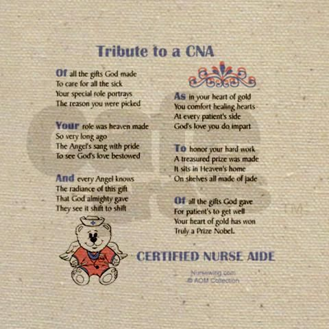 Tribute to a Nurse Aide Tote Bag | Nurse stuff | Pinterest