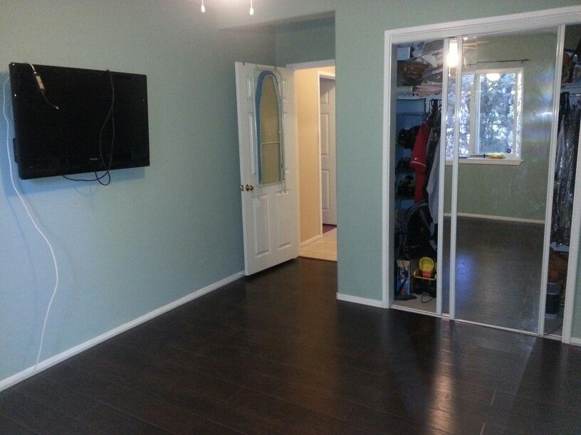 Benjamin Moore Pleasant Valley Blue With Nightfall Hickory Floors With Images Interior
