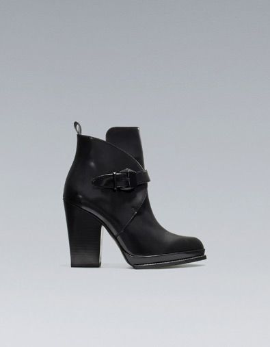 57c430497f1bf ANTIK HIGH-HEEL ANKLE BOOT WITH BUCKLE Height of heel  10 cms.  3,94  inches. 129.00 USD