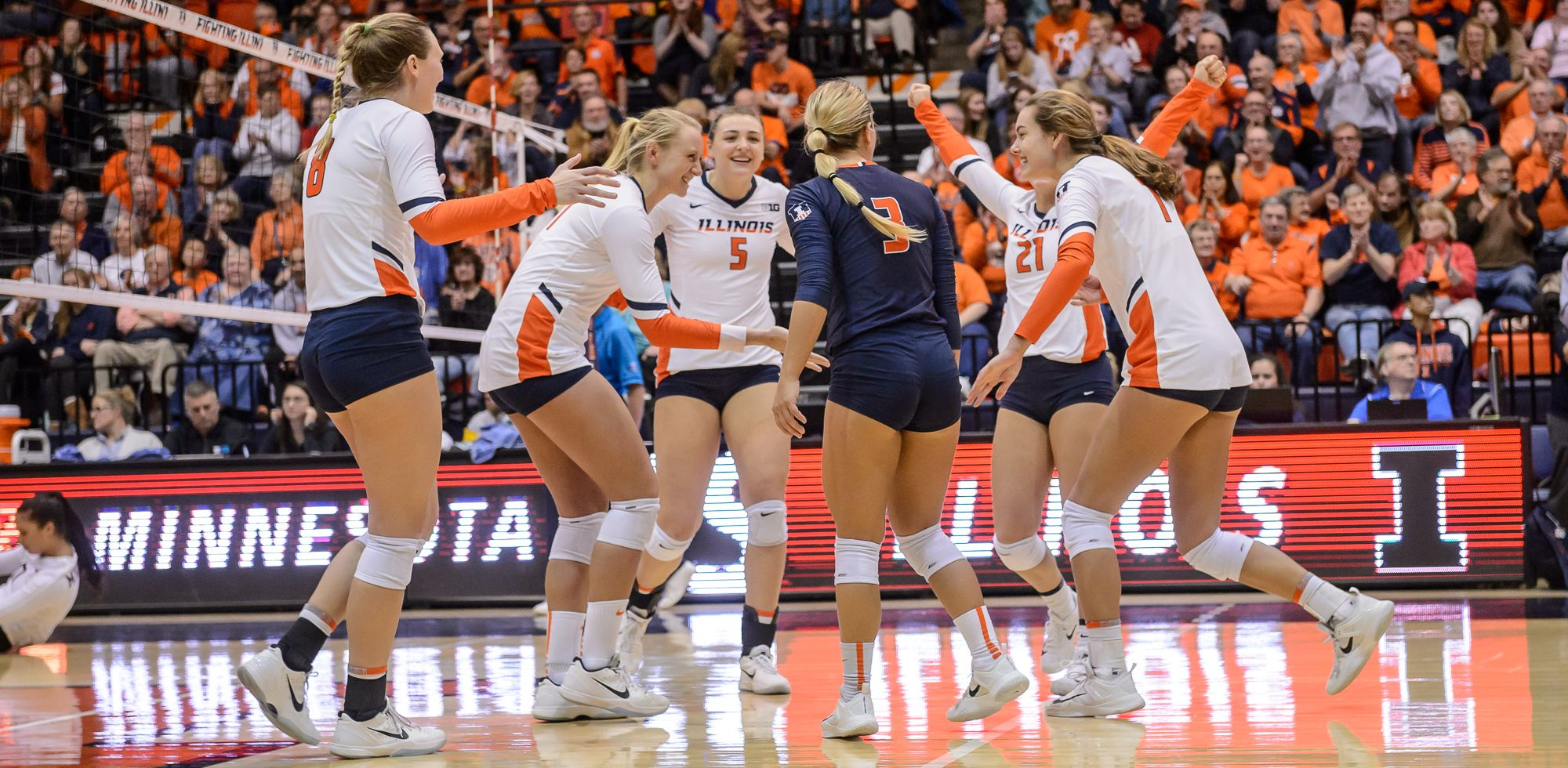 2018 Schedule Set For Illini Volleyball University Of Illinois Athletics University Of Illinois Athletics Volleyball Volleyball News
