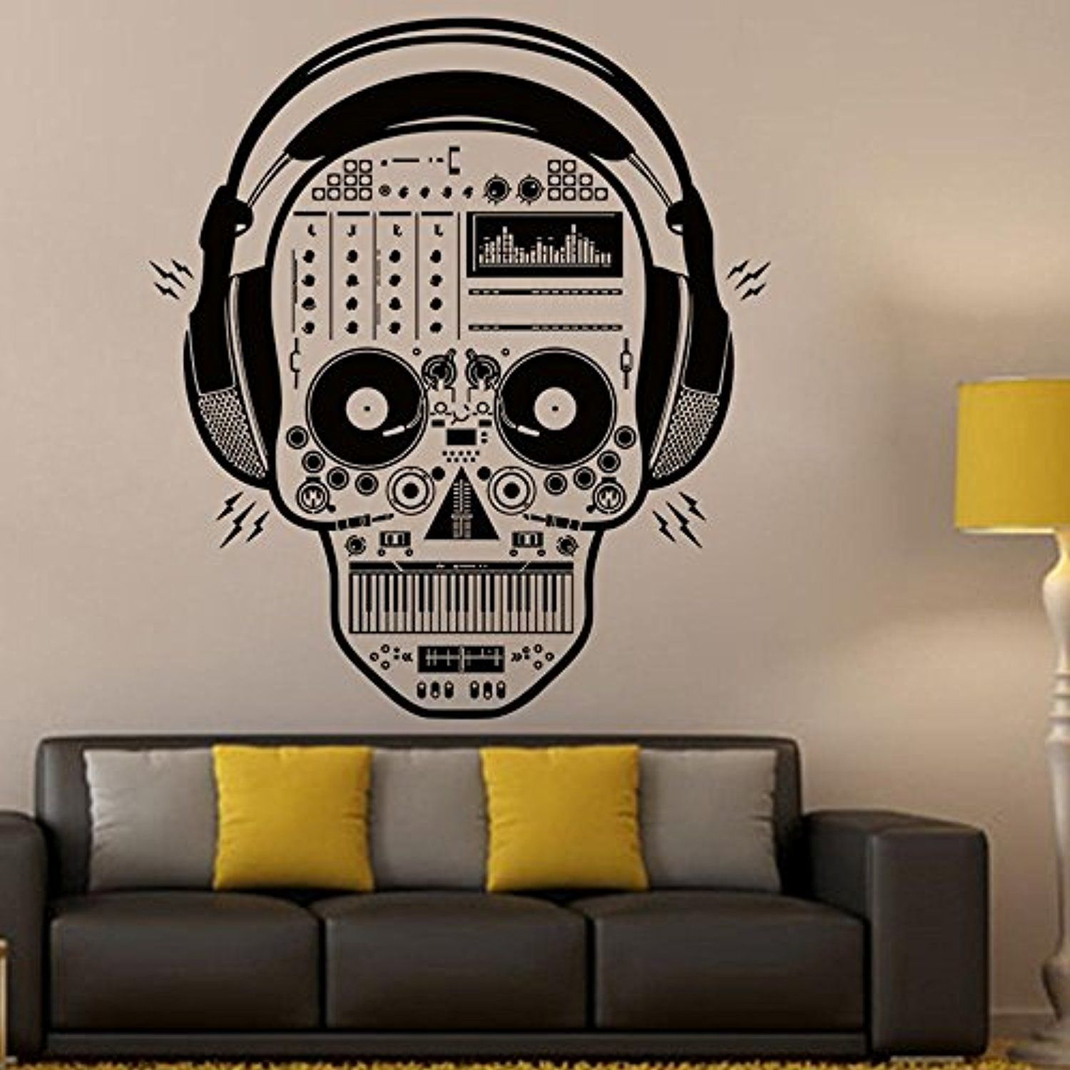 Wall Sticker Hatop Halloween Skeleton Background Decorated Living Room Bedroom Wall Stickers D Ch Wall Stickers Bedroom Halloween Skeletons Skull Sticker [ 1500 x 1500 Pixel ]
