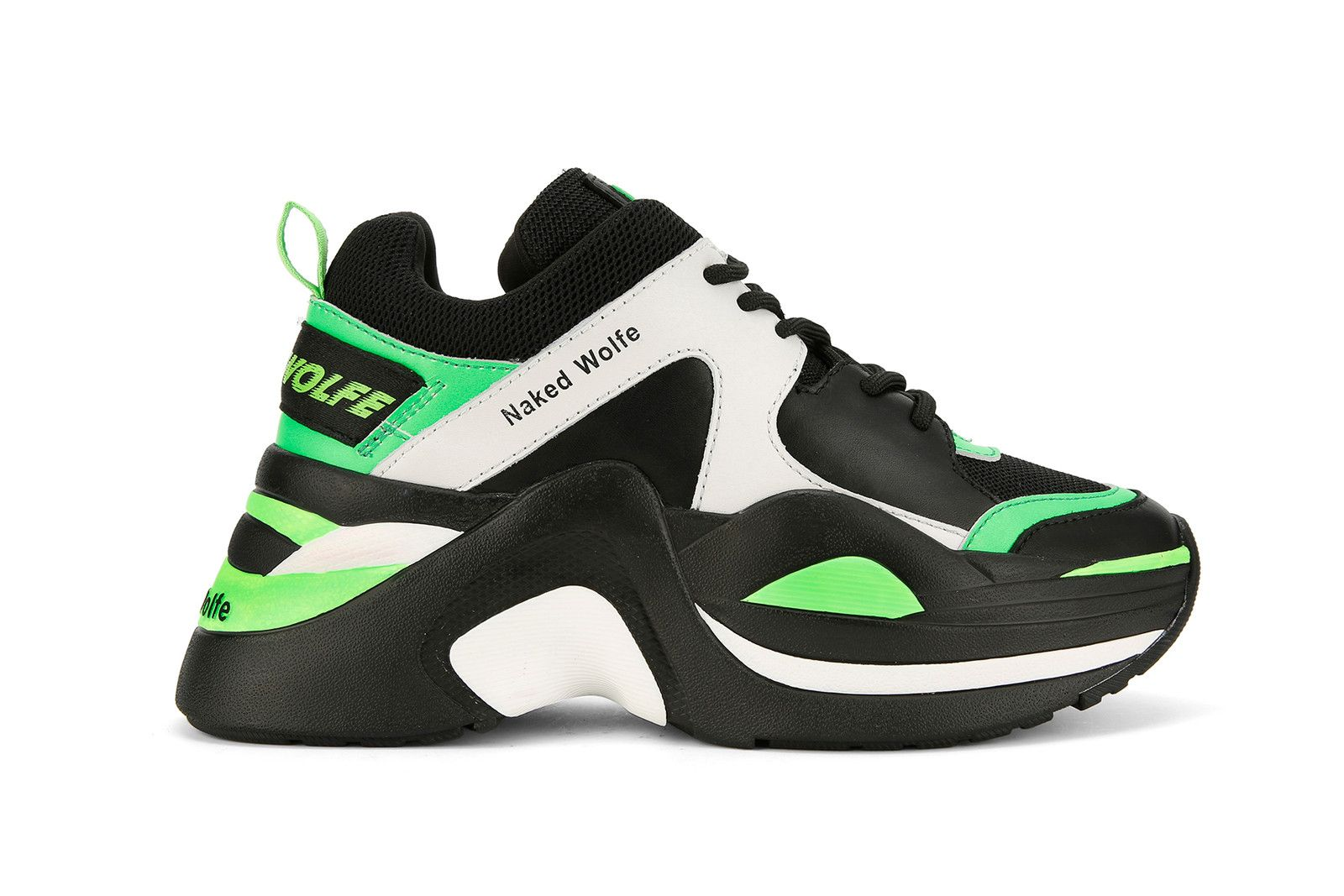 Naked Wolfe Chunky Sneaker Track Neon Green Black White Lookbook ... c0ad5b709e