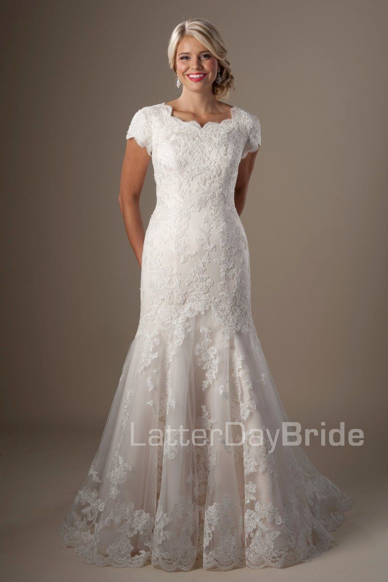 80ffe802dd61 Unique lace pattern mermaid wedding gown, style Perrier, is part of the  Wedding Collection