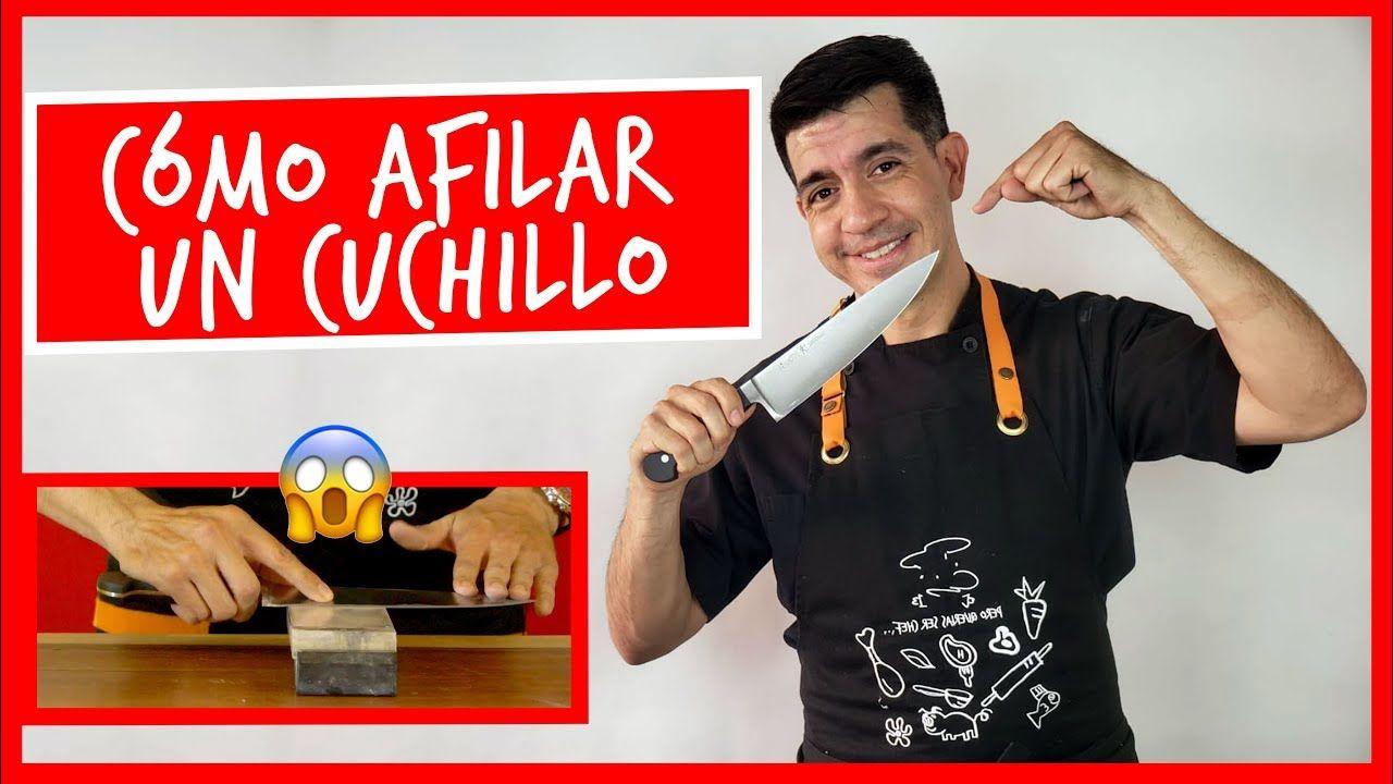 Como Afilar Tu Cuchillo De Cocina Cuchillos De Cocina Afilador De Cuchillos Cuchillos