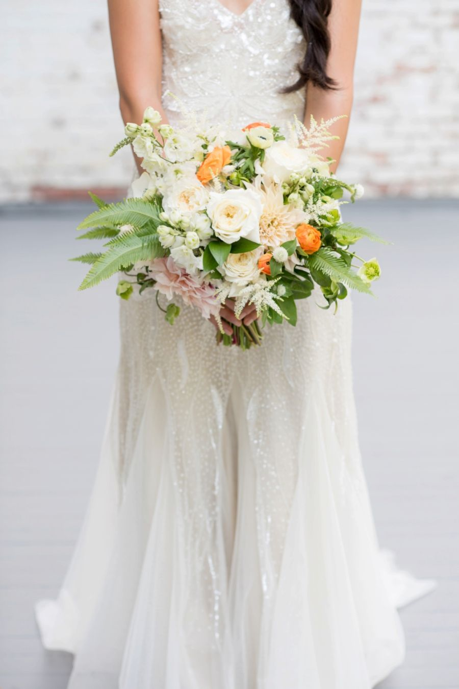 An Eclectic Navy & Orange New York Wedding | Pinterest | Floral ...