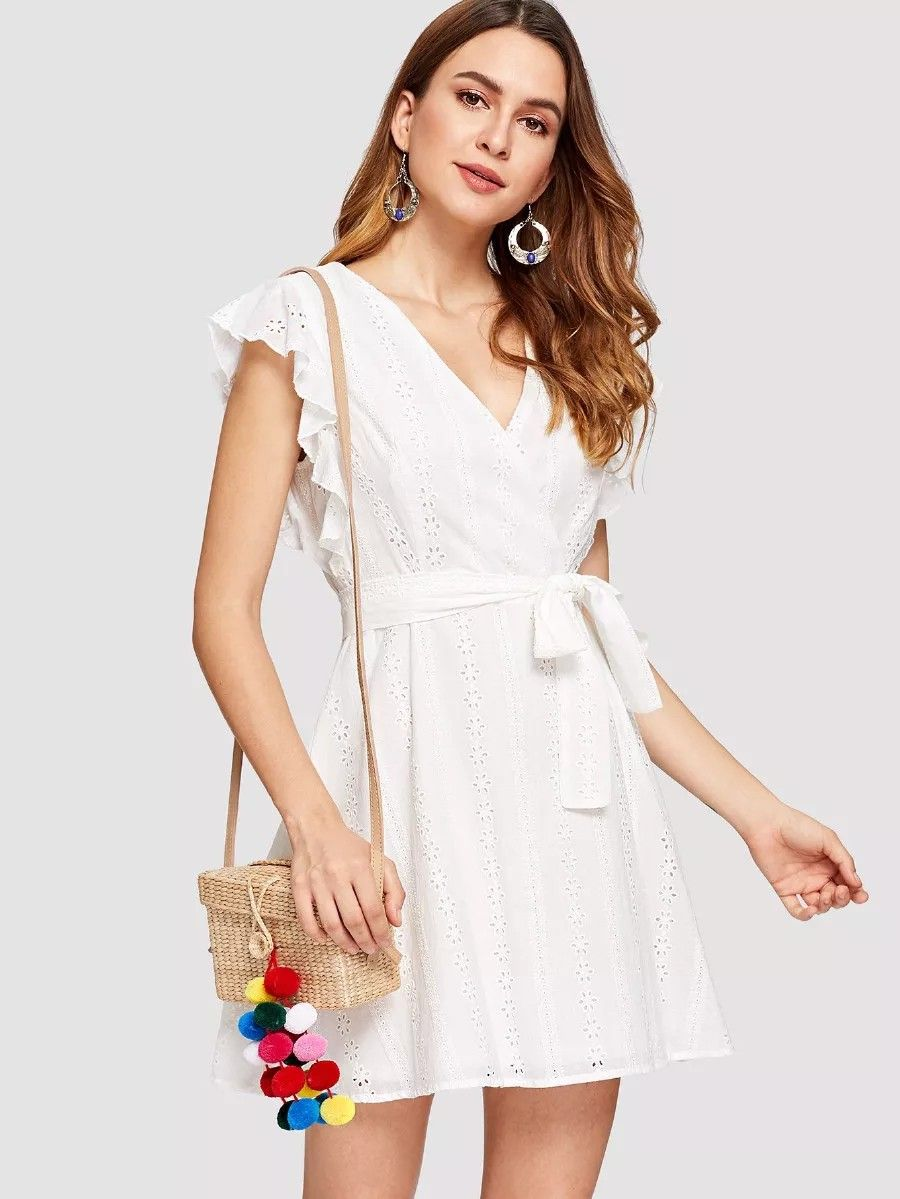45e3ddb3b42a Trendy Outfits, Fashion Outfits, Dress Fashion, Trendy Clothing, Wrap Dress  Outfit,