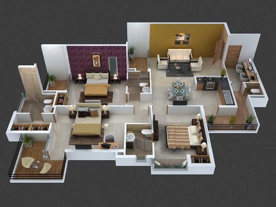 Top 8 3d Cozy Home Plans House Plans Cozy House House Layout Plans