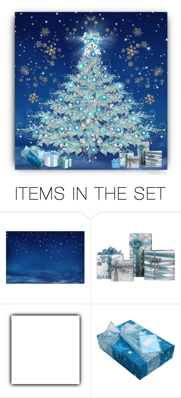"""Aqua Aurora Beauty ~ Build-a-Tree"" by pwhiteaurora ❤ liked on Polyvore featuring art, Christmas and christmastree"