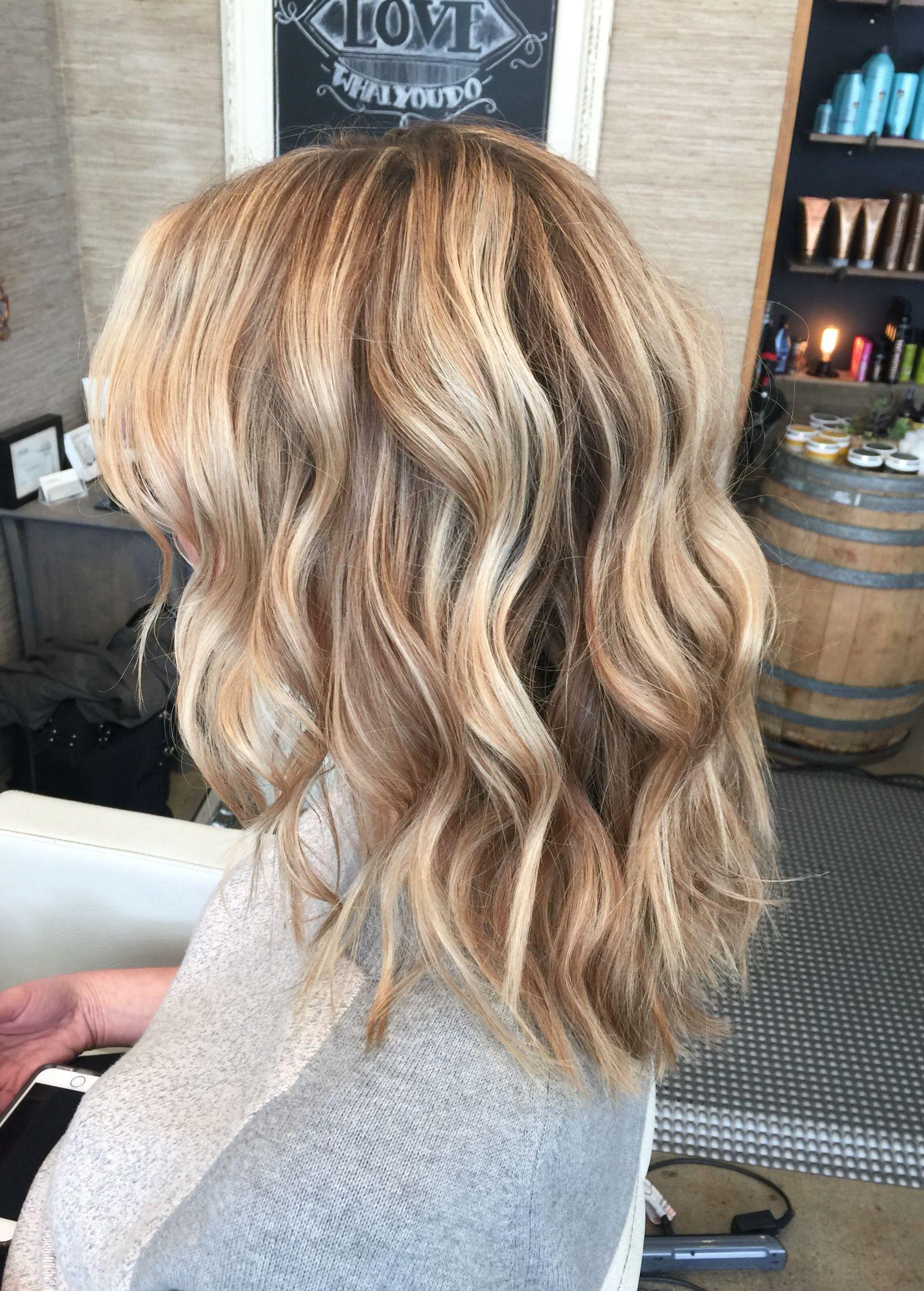 Livedin blonde dimensional color highlights bronde new do