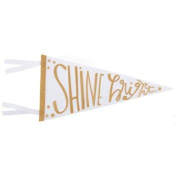 Shine Bright Pennant Banner | WALL DECOR/WALL ART | Pinterest ...