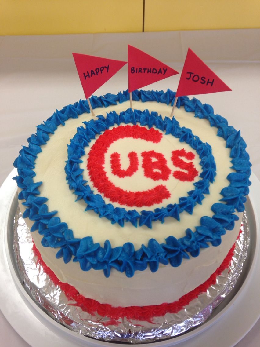 Chicago Cubs Birthday Cake Birthday Party Ideas Pinterest Cubs