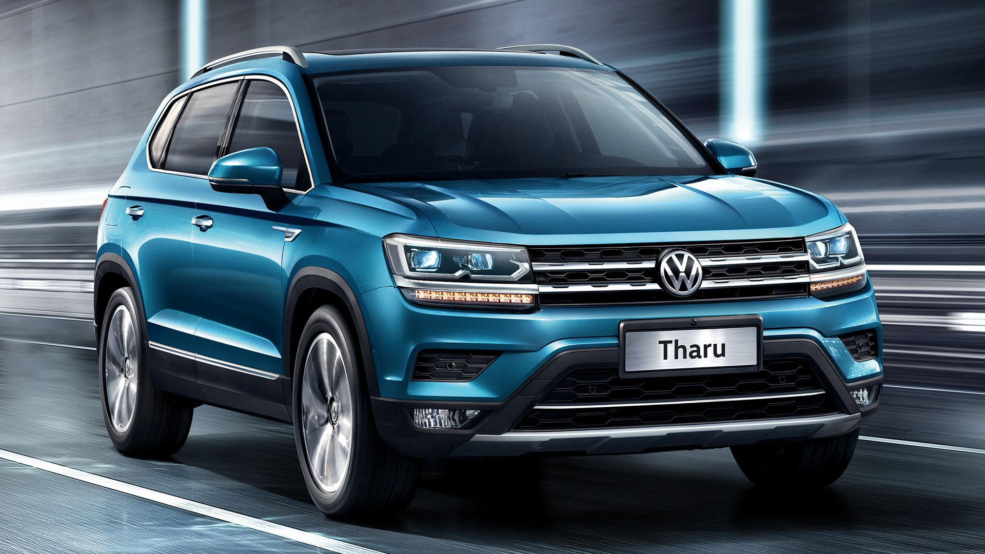 Vehicles Volkswagen Tharu Volkswagen Suv Blue Car Car Hd Wallpaper Background Imageq Wallpaper Cart Volkswagen Car Volkswagen Subcompact