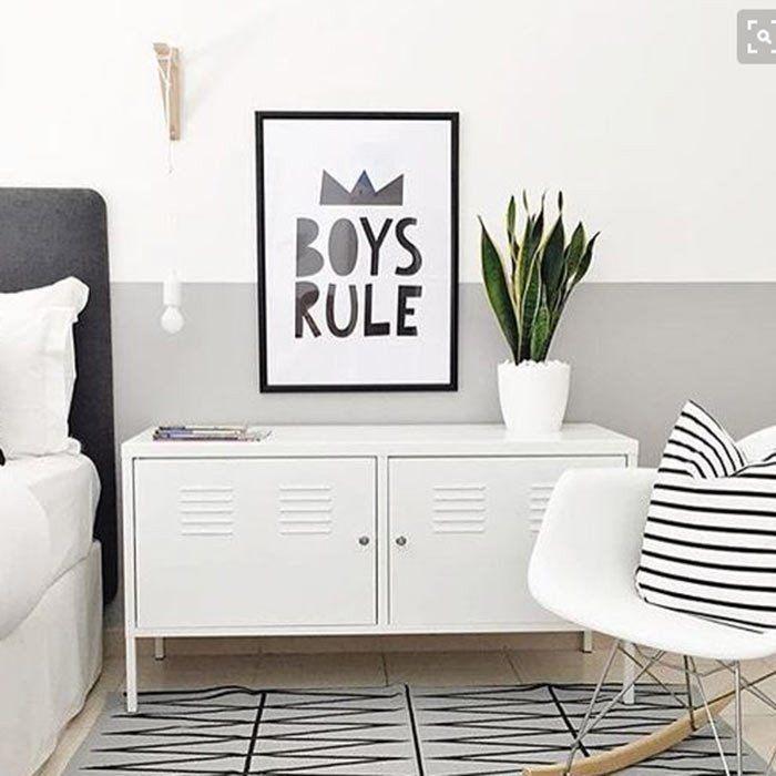 Pôster Quadro Minimalista Preto e Branco Infantil Boy's Rule - MiniMalista Baby