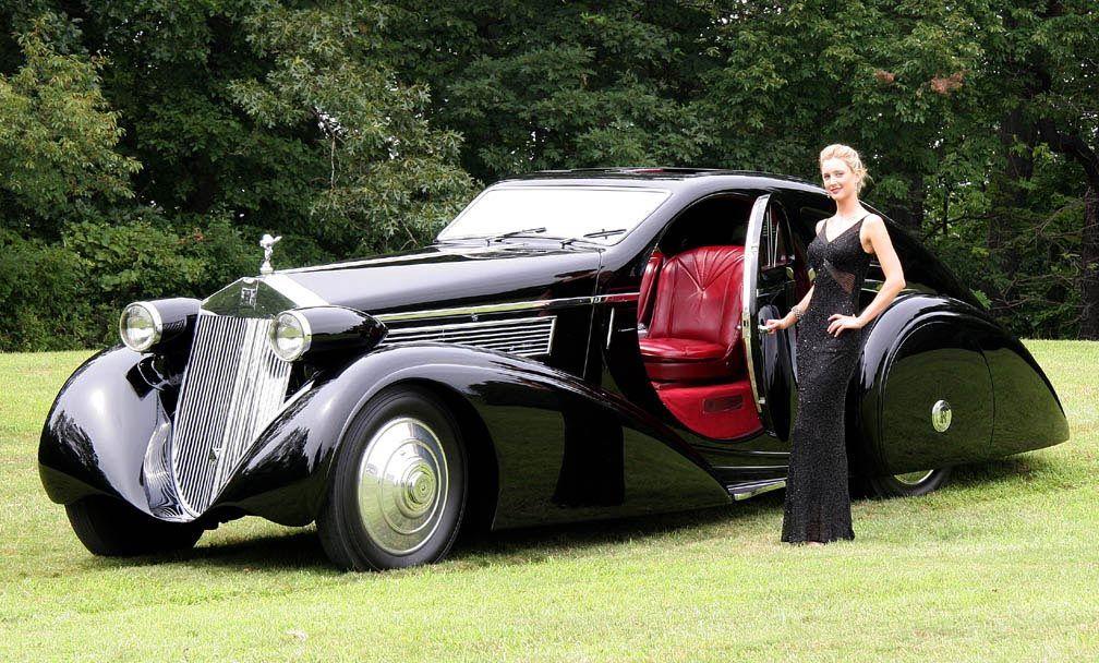1925 Round Door Rolls Royce Phantom I Aerodynamic Coupe