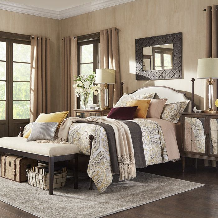 Three Posts Rockledge Upholstered Panel Bed & Reviews
