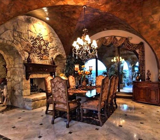 Luxury Homes Interior Designs Old World Style With Amazing: Beautiful Stonework; Love This Dinning Room